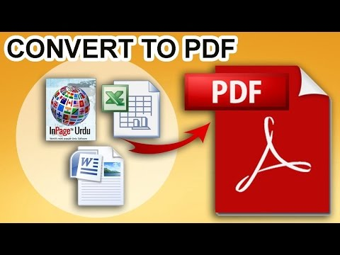 how to convert inpage file into pdf