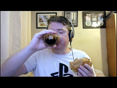 ASMR MUKBANG Eating Burger King Double Bacon And Cheese Whopper And Drinking Ice Cold Coca-Cola