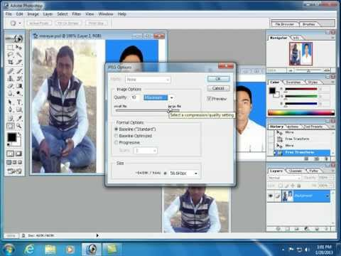 How to joint a 2 any picture in Photoshop