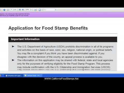 California Food Stamps