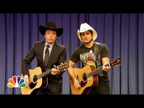 Jimmy Fallon & Brad Paisley Sing
