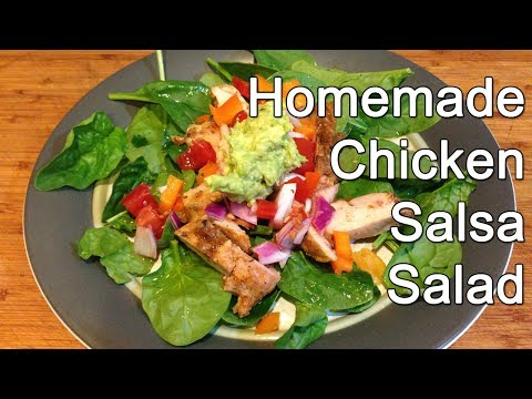 How to Make Homemade Healthy Chicken Salsa Salad