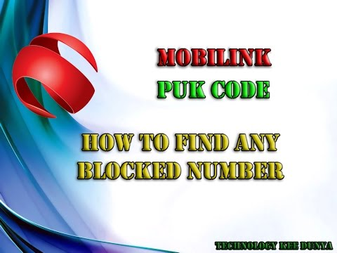 HOW TO FIND MOBILINK SIM PUK CODE
