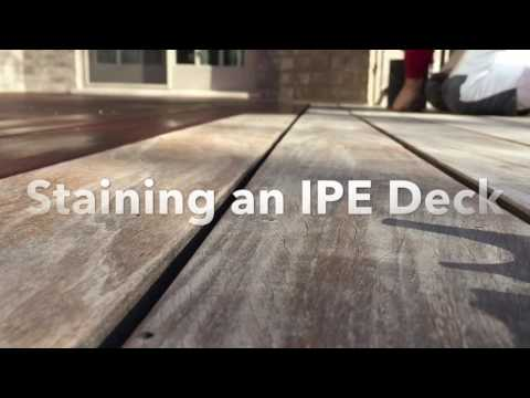 Staining an IPE Deck