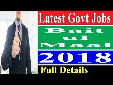 Latest Jobs in Punjab Government 2018 in Social Welfare and Bait-ul-Maal – Govt Jobs Finder