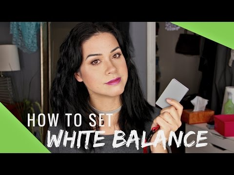 How to Set the Color (white balance) on Your Camera | Canon T5i | Samantha Ebreo