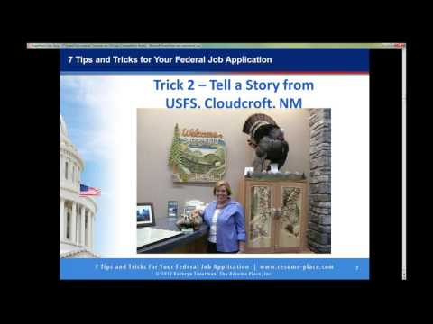 7 Tips and Tricks for Federal Job Applications by Kathryn Troutman 2016
