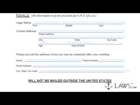 Instruction to fill mohave county marriage license by mail application form