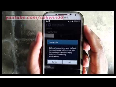 Samsung Galaxy S4 : How to set default messaging app (Android Kitkat)