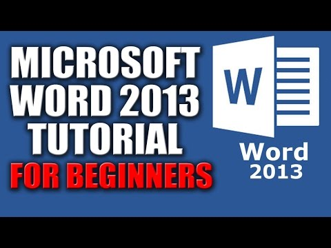 Microsoft Word 2013 Tutorial for Beginners Lesson No.1