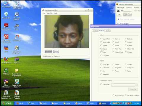 Tutorial Setting Camera Yahoo Messenger