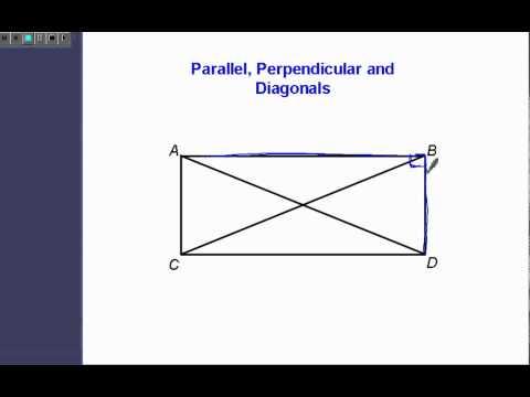 Parallel, Perpendicular, and Diagonals