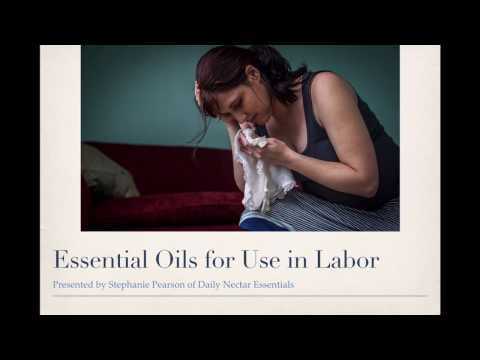 Essential Oils for Use in Labor- FREE Webinar