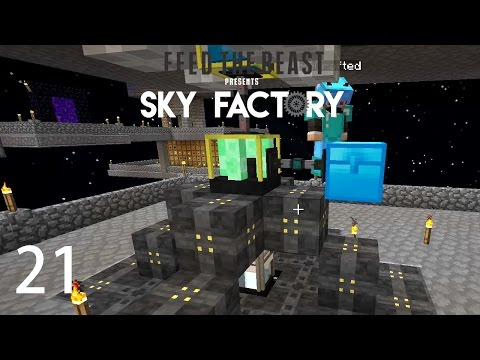 Sky Factory 3 w/ xB - VOID RESOURCE MINER [E21] (Minecraft Modded Sky Block)