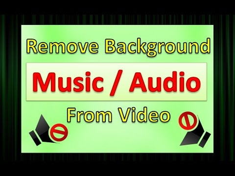 remove audio from video !! how to remove background music from video