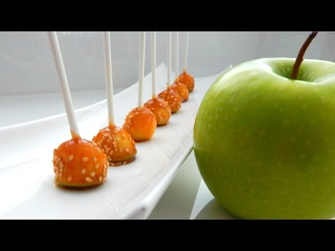 How to make MINI CARAMEL APPLES (Simple Home VIdeo Recipe, DIY) - Inspire To Cook