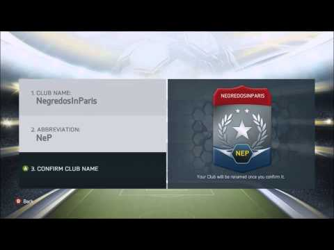 FIFA 14 How to change your club name in ultimate team FUT14