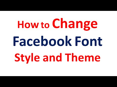 Change Facebook Color Scheme and Font Style