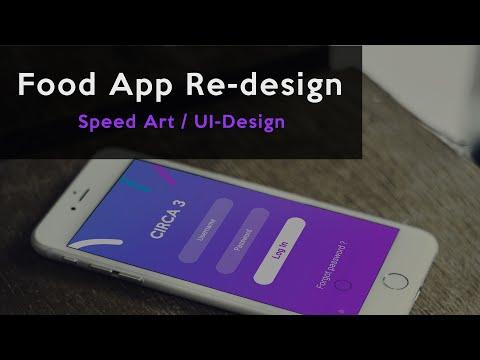 Mobile UI App Design   Food App   Speed Art (Adobe Photoshop CC 2015.5) - Léo R. #DOTM
