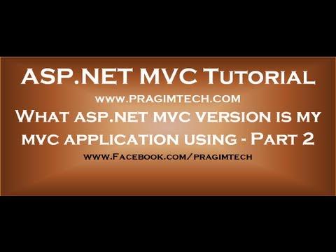 What aspnet mvc version is my mvc application using - Part 2