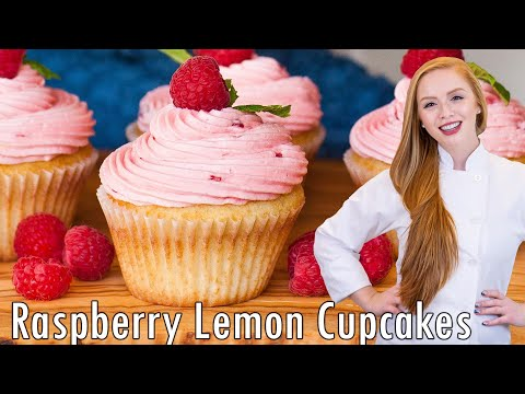 Raspberry Lemon Surprise Cupcakes