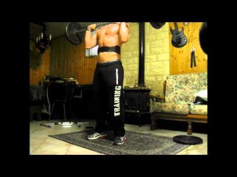 vertical jump training  Ace power clean 84kg