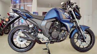 Yamaha FZS( 2018 ) launches matt blue with rear disk 150 cc