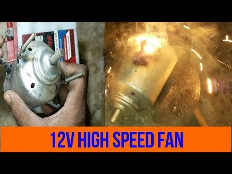 HOW TO MAKE  HIGH SPEED FAN AT HOME