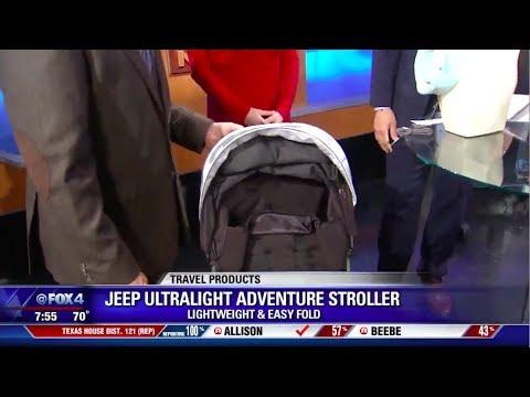 Dallas Texas Fox News Spotlights J is for Jeep Ultralight Adventure Stroller