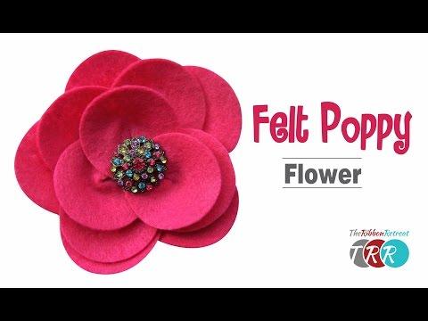 How to Make a Felt Poppy Flower - TheRibbonRetreat.com