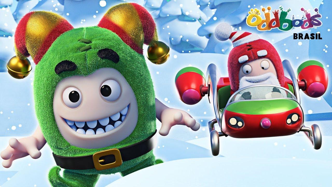 Especial de Natal do Oddbods   AMEAÇA FESTIVA   NATAL Desenhos Animados Para Crianças