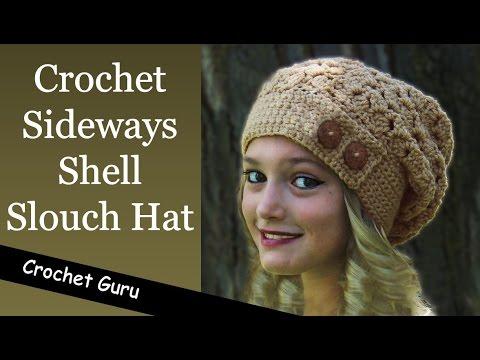 How to Crochet a Slouchy Hat - Sideways Shell Slouch Hat Pattern