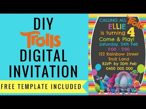 How to make a FREE Trolls Digital Invitation with PicMonkey