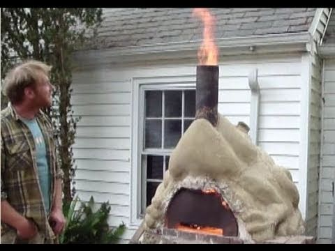cob oven - double chamber cob oven