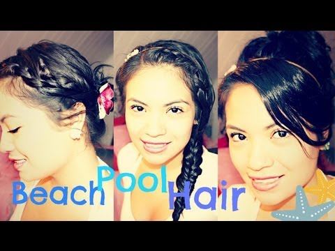 After the BEACH/POOL hair and makeup tutorial - No Heat
