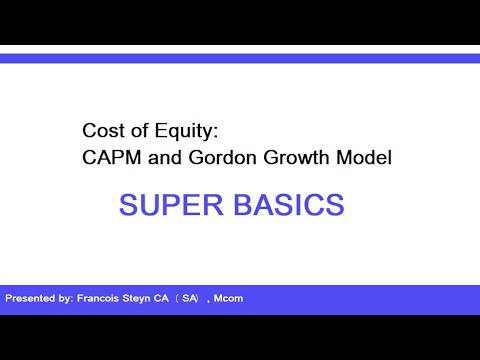 FIM242 - Calculating cost of equity