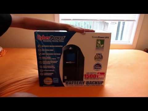 CyberPower 1500va UPS Battery Backup Unboxing
