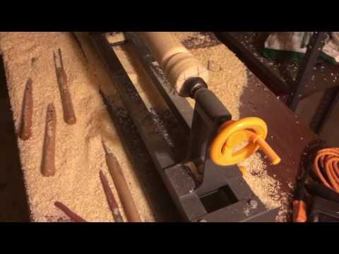Turning an ash wood bat. Pt. 3.