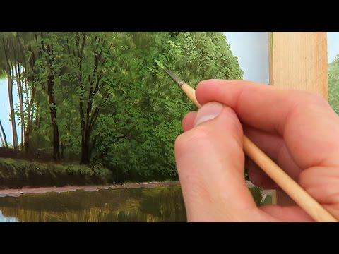 #16 How To Paint Leaves on Trees | Oil Painting Tutorial