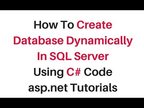 create database programmatically in sql server c# 4.6