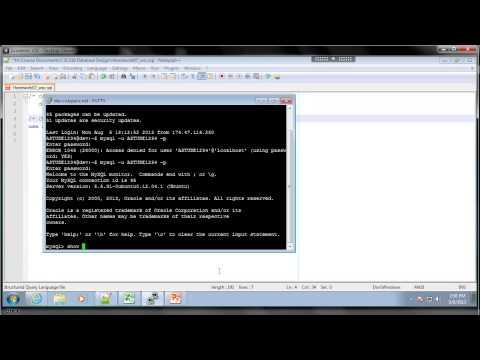 Creating MySQL Script Files