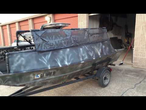 Custom Louisiana boat blind #2