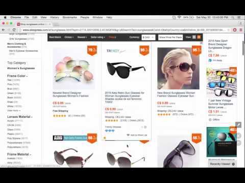How to buy cheap sunglasses via aliexpress