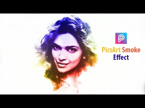Picsart Awesome Edit Tutorial : Picsart Easy Smoke Effect : Picsart 2017
