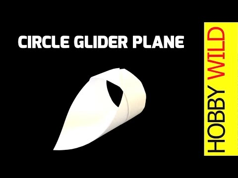 How To Make A Paper Circle Glider Airplane (EASY!)