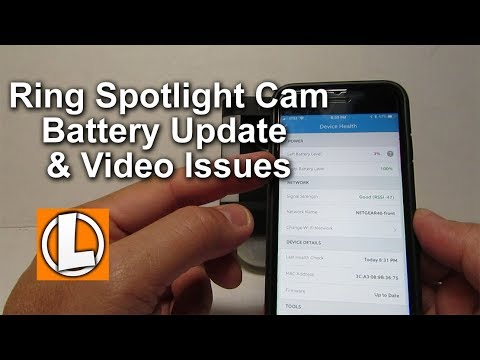 Ring Spotlight Cam Battery Update and Freezing | Choppy Video Issues