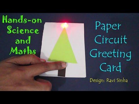 Paper circuit greeting card | Kannada