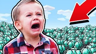 STEALING DIAMONDS FROM KIDS ON MINECRAFT!