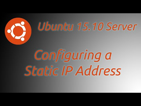 How to a Set Up Static IP Ubuntu Server 15.10, 14.04, 16.04