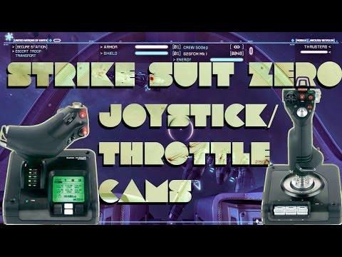 Strike Suit Zero - Joystick/Throttle + Cockpit view Gameplay (space fighter simulator)